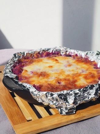 网红小吃芝士焗紫薯的做法