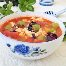 番茄丝瓜鸡蛋汤