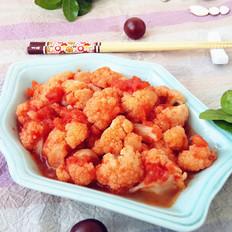 番茄酱炒菜花