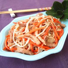 里脊肉炒金针胡萝卜
