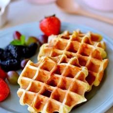 蛋糕版华夫饼让你的早餐更华丽!
