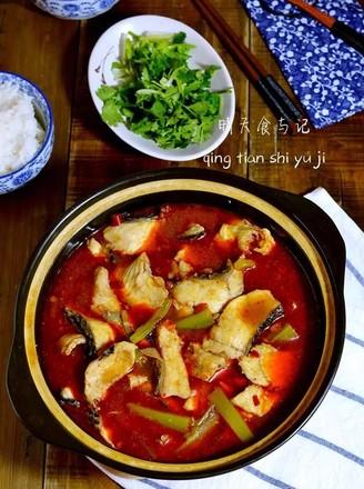 红红火火水煮鱼(微辣少油版)的做法
