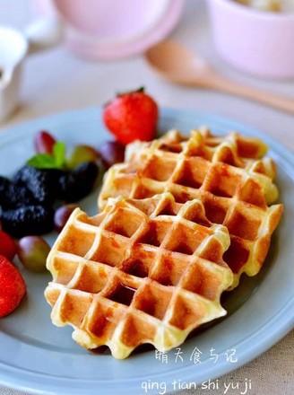 蛋糕版华夫饼让你的早餐更华丽!的做法