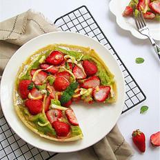 草莓豌豆泥饺子皮披萨