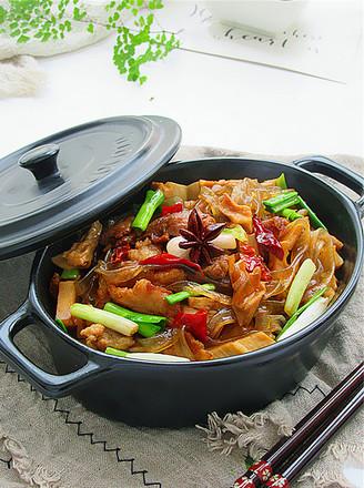 红烧肉炖干笋的做法