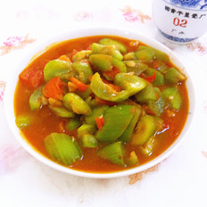 丝瓜炒西红柿的做法[图]