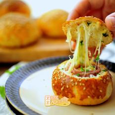 培根芝士面包盅