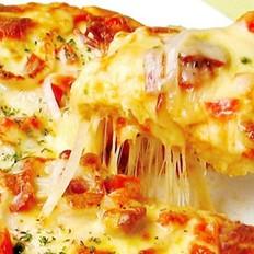 火腿培根肉披萨