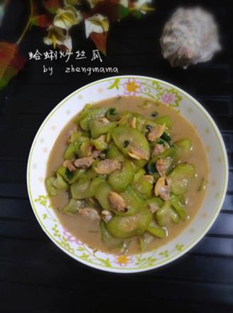 蛤蜊炒丝瓜的做法