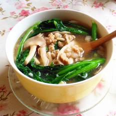 秀珍菇青菜肉末汤