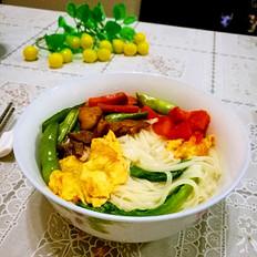 #六月鲜#四季豆肉末西红柿鸡蛋面条