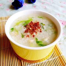 瑶柱肉松青菜二米粥