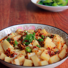 #湖南小吃#凉拌米豆腐