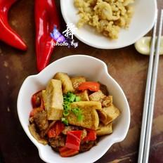 猪油渣烧豆腐的做法[图]