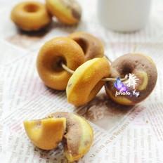双色迷你甜甜圈