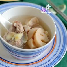 莲藕百合煲排骨