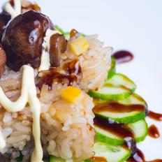 蘑菇焗饭(电饭煲版)