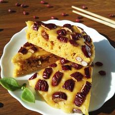 大枣花生玉米面发糕#午餐#