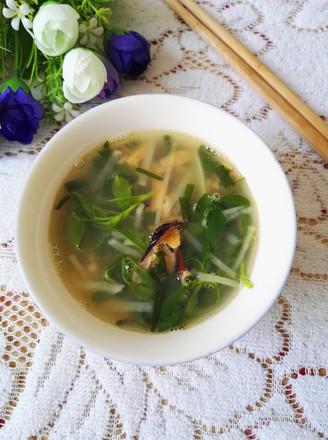 淡菜苜蓿汤的做法