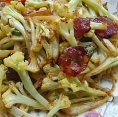 干锅腊肠花菜