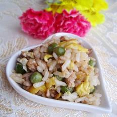 青豆肉末蛋炒饭