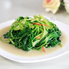 猪油椒丝腐乳通菜