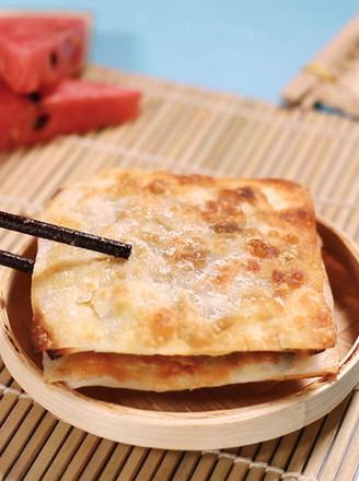 馄饨皮葱油饼的做法