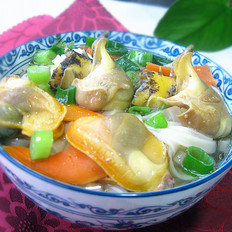 海螺蚬子汤面