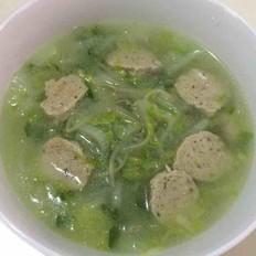 小白菜豆芽肉丸汤
