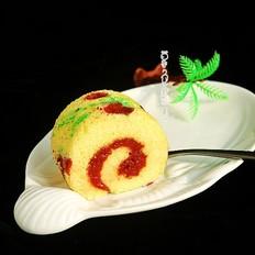 丝绒蛋糕花树卷