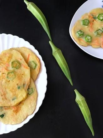 秋葵鸡蛋小煎饼的做法