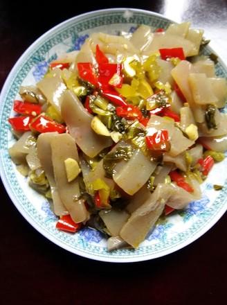酸菜炒 魔芋豆腐 的做法 家常酸菜炒 魔芋豆腐 的