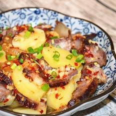 腊肉蒸土豆