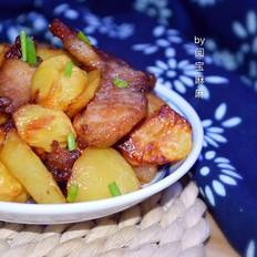 空气炸锅版蚝油土豆肉片