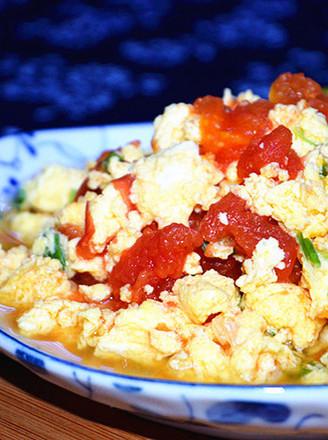 微波炉版番茄炒蛋的做法