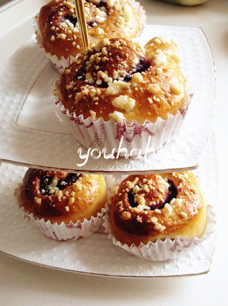 香酥紫薯面包卷