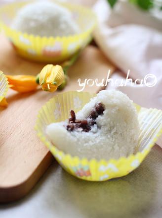 椰蓉豆沙糯米滋的做法