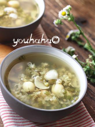 绿豆百合莲子汤的做法