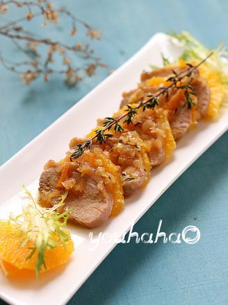 橙香鸭肉的做法