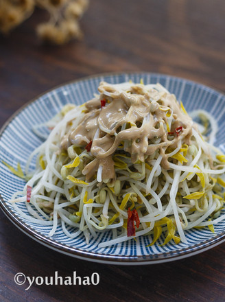 麻汁豆芽菜的做法