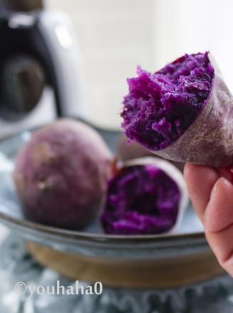 烤紫薯的做法