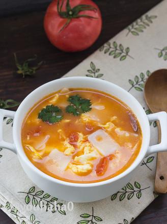 西红柿鸡蛋年糕汤的做法