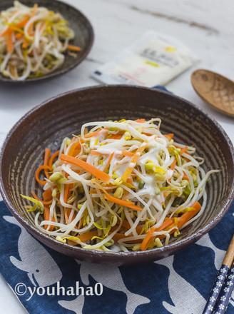 青柠豆芽菜丘比沙拉汁的做法
