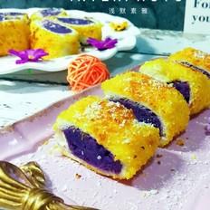 椰蓉紫薯卷