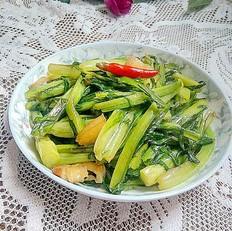 猪油渣炒甜麦菜