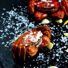 柠檬海盐烤螃蟹