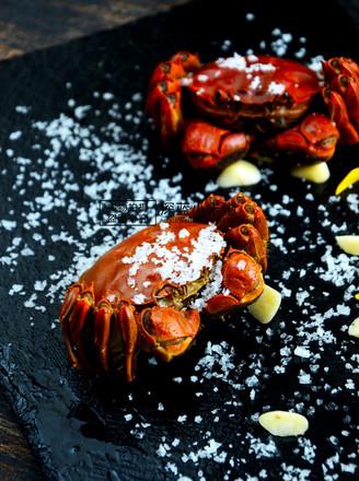 柠檬海盐烤螃蟹的做法