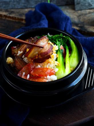砂锅腊肉煲仔饭的做法
