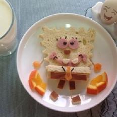 海绵宝宝面包餐