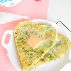 芹菜叶面糊饼